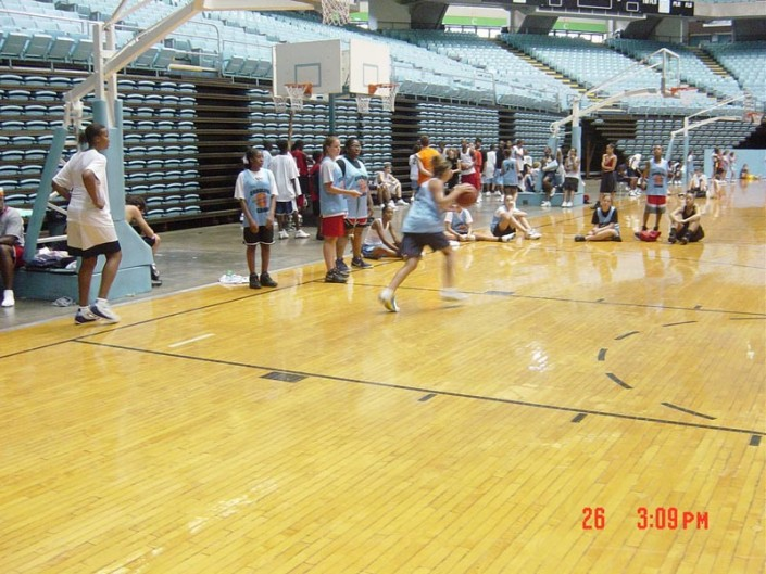 basketball practice at camp
