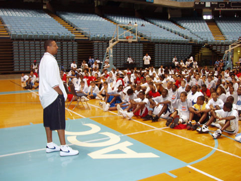 summer camp basketball lecture