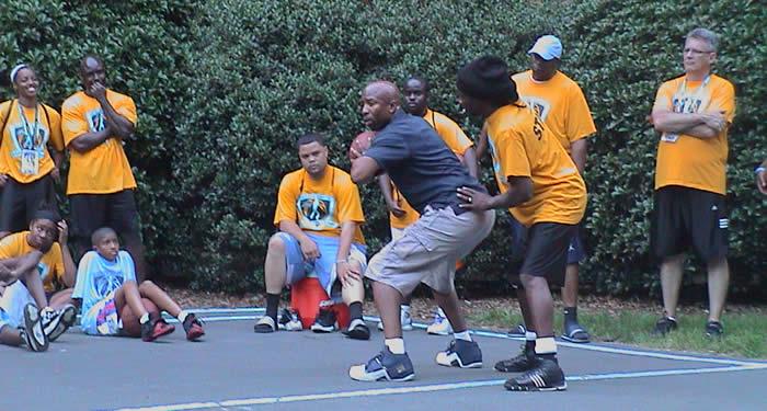 staff basketball game